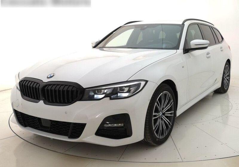BMW Serie 3 318d Touring Msport auto Mineral White Usato Garantito AK0BYKA-a_censored