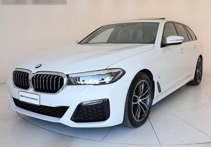 BMW Serie 5 540d Touring mhev 48V xdrive Msport auto Alpine White Usato Garantito CB0CKBC-1_censored