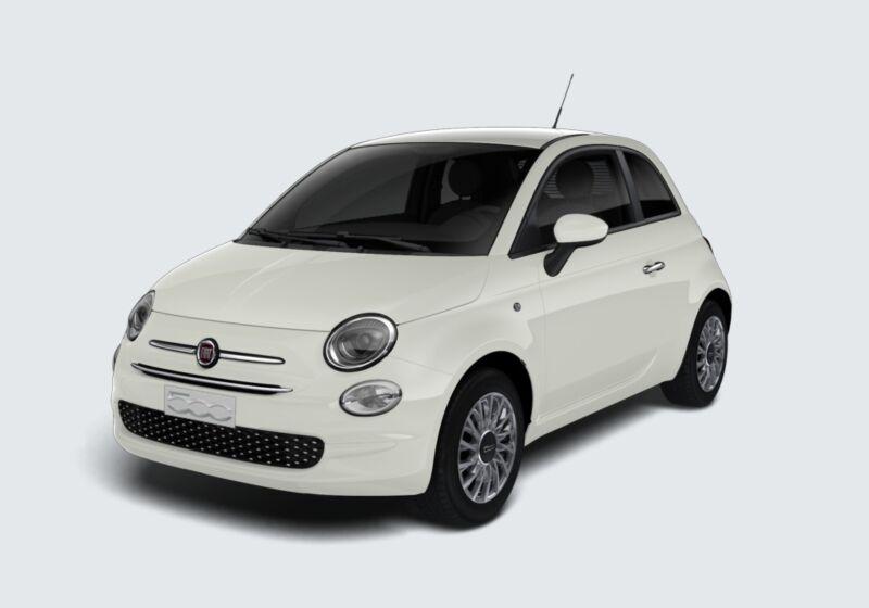 FIAT 500 1.0 Hybrid Lounge Bianco Gelato Km 0 FG0BWGF-61703_esterno_lato_1