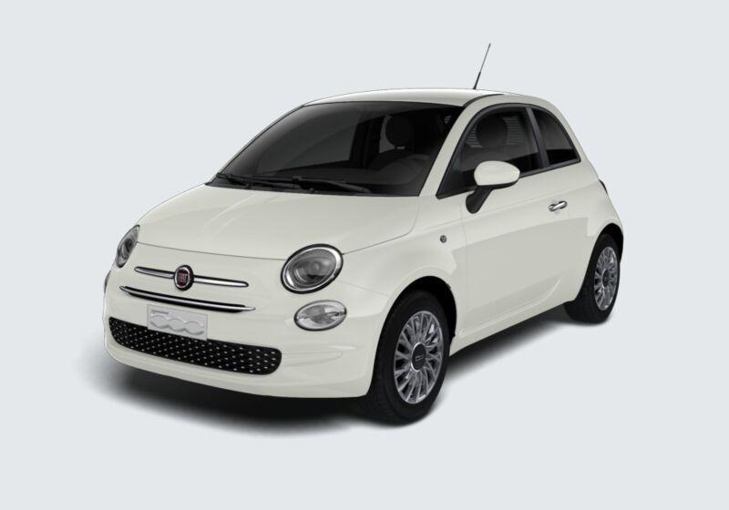 FIAT 500 1.0 Hybrid Lounge Bianco Gelato Km 0 X30BJ3X-44253_esterno_lato_1