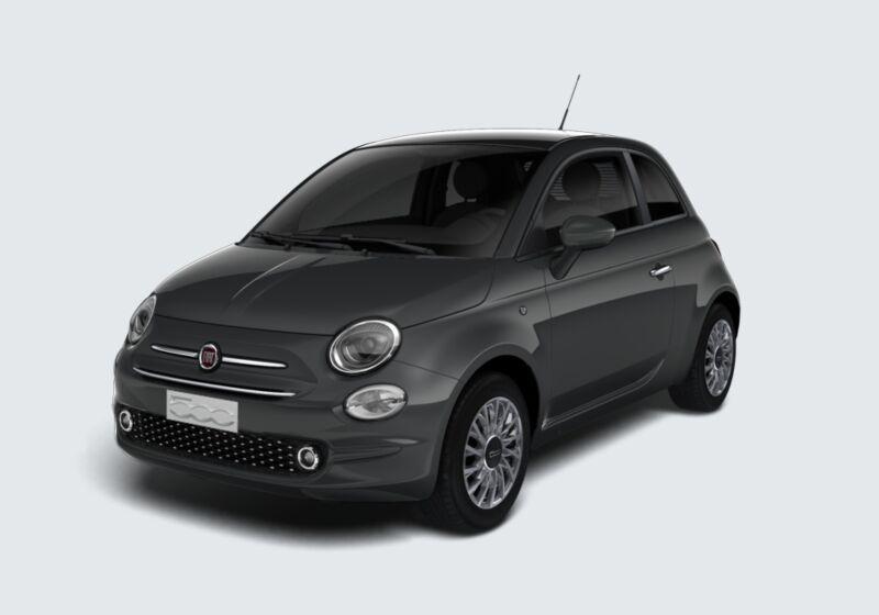 FIAT 500 1.0 Hybrid Lounge Grigio Carrara Km 0 QF0BWFQ-61684_esterno_lato_1