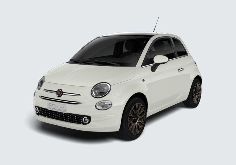 FIAT 500 1.2 120° Bianco Gelato Km 0 JX0BKXJ-45995_esterno_lato_1