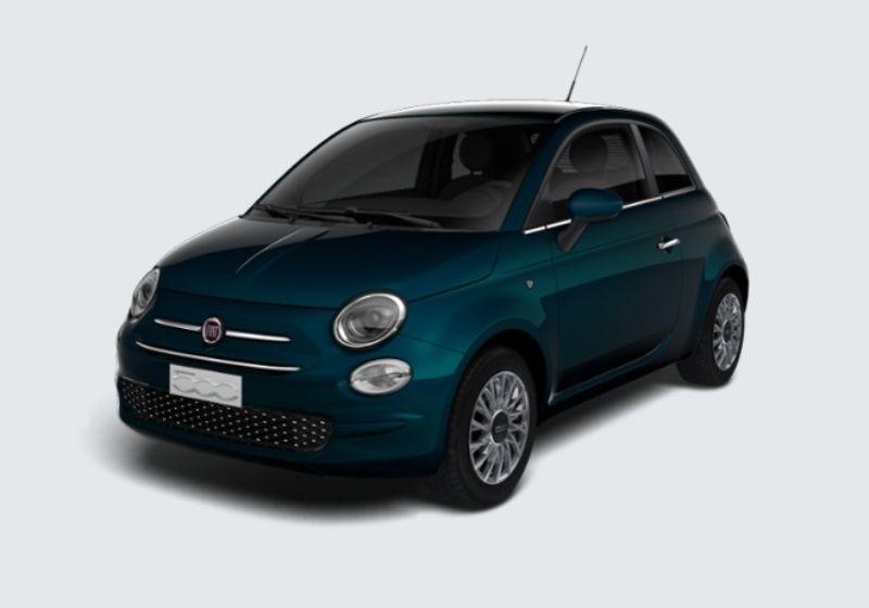 FIAT 500 1.2 EasyPower Lounge Blu dipinto di Blu Km 0 WM0BDMW-37372_esterno_lato_1