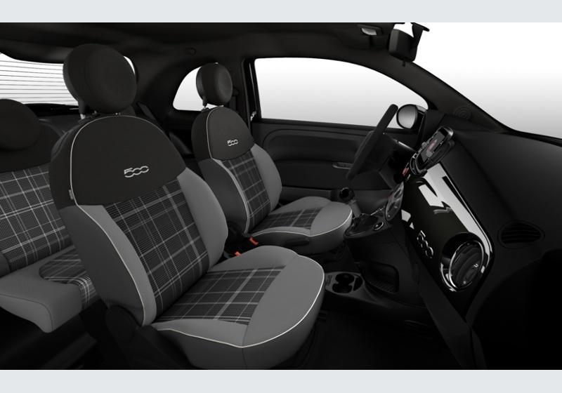FIAT 500 1.2 EasyPower Lounge my20 Nero Vesuvio Km 0 KKV0VKK-28044_interno_lato_6