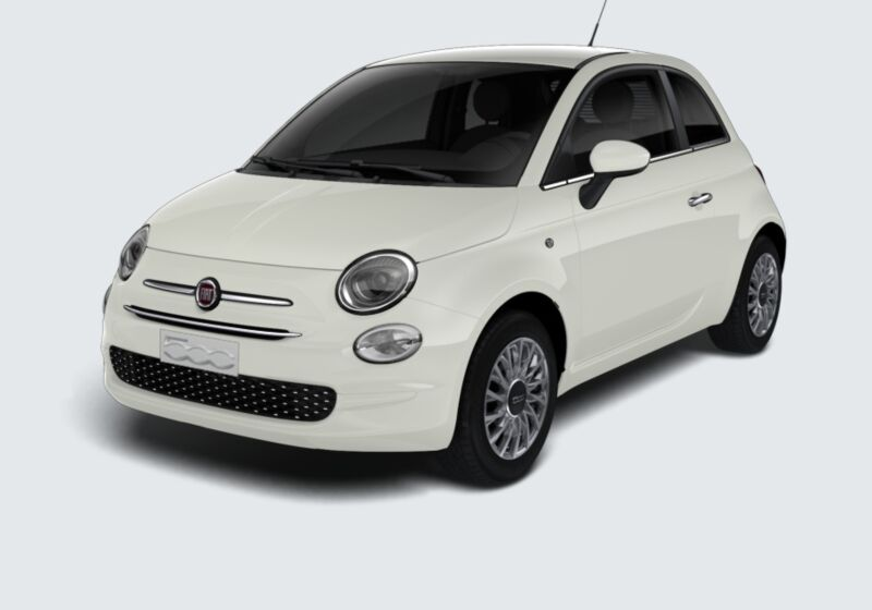 FIAT 500 1.2 Lounge 69cv Bianco Gelato Km 0 PA0BNAP-50194_esterno_lato_1