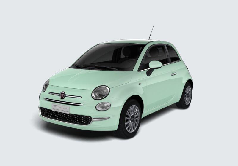 FIAT 500 1.2 Lounge 69cv Verde Lattementa Km 0 FT0BKTF-45831_esterno_lato_1