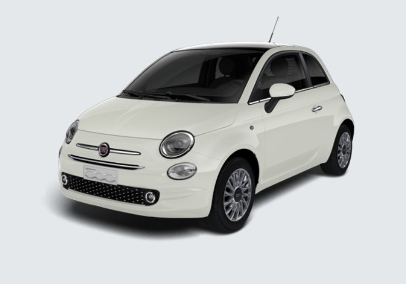 FIAT 500 1.2 Lounge 69cv Bianco Gelato Km 0 DAW0WAD-28676_esterno_lato_1