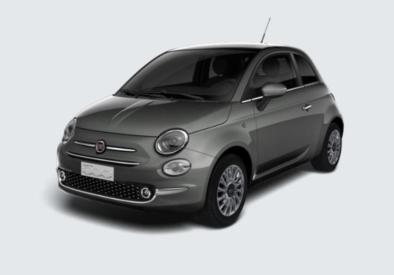 FIAT 500 1.2 Lounge 69cv Grigio Pompei Km 0 XEW0WEX-28861_esterno_lato_1