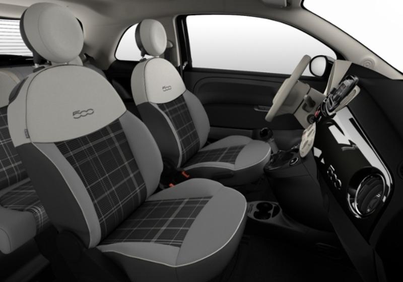 FIAT 500 1.2 Lounge 69cv Nero Vesuvio Km 0 0000VFU-e