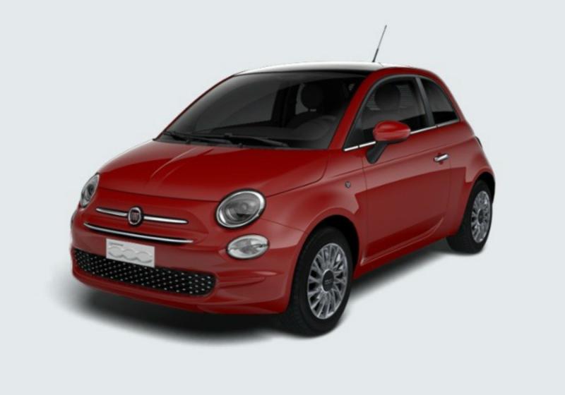 FIAT 500 1.2 Lounge 69cv Rosso Passione Km 0 0000VF7-a