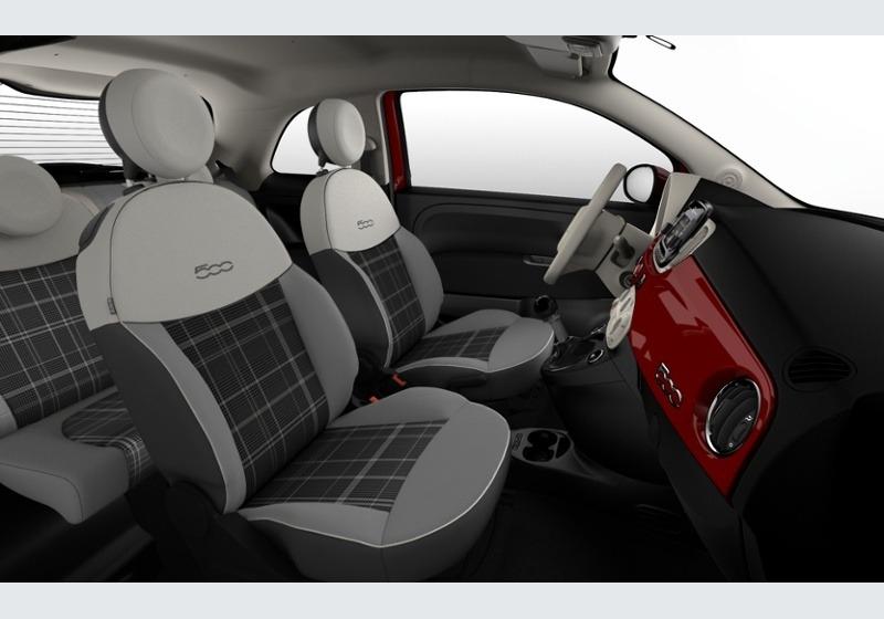 FIAT 500 1.2 Lounge 69cv Rosso Passione Km 0 0000VF7-e