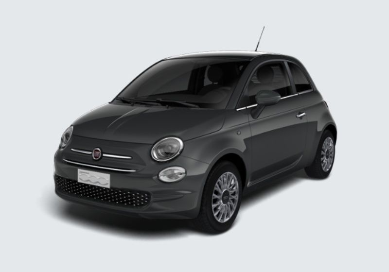 FIAT 500 1.2 Lounge 69cv Grigio Carrara Km 0 340B343-39238_esterno_lato_1