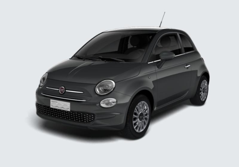 FIAT 500 1.2 Lounge 69cv Grigio Carrara Km 0 49W0W94-29514_esterno_lato_1