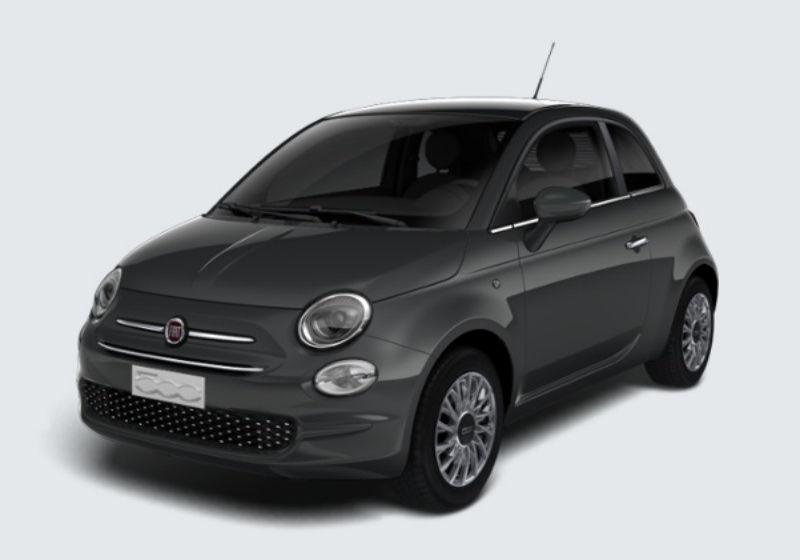 FIAT 500 1.2 Lounge 69cv Grigio Carrara Km 0 S80BD8S-37622_esterno_lato_1