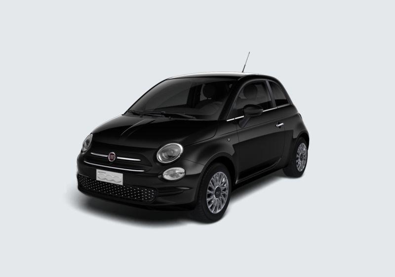 FIAT 500 1.2 Lounge 69cv Nero Vesuvio Km 0 760BF67-40467_esterno_lato_1