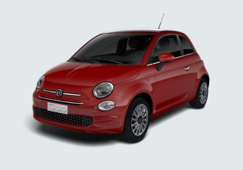 FIAT 500 1.2 Lounge 69cv Rosso Passione Km 0 YM0BAMY-33278_esterno_lato_1