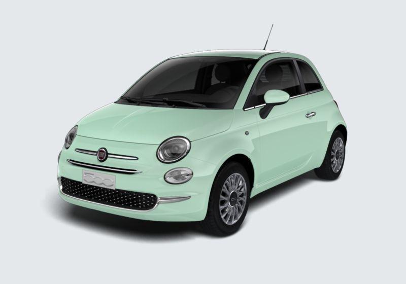 FIAT 500 1.2 Lounge 69cv Verde Lattementa Km 0 M60BF6M-40463_esterno_lato_1