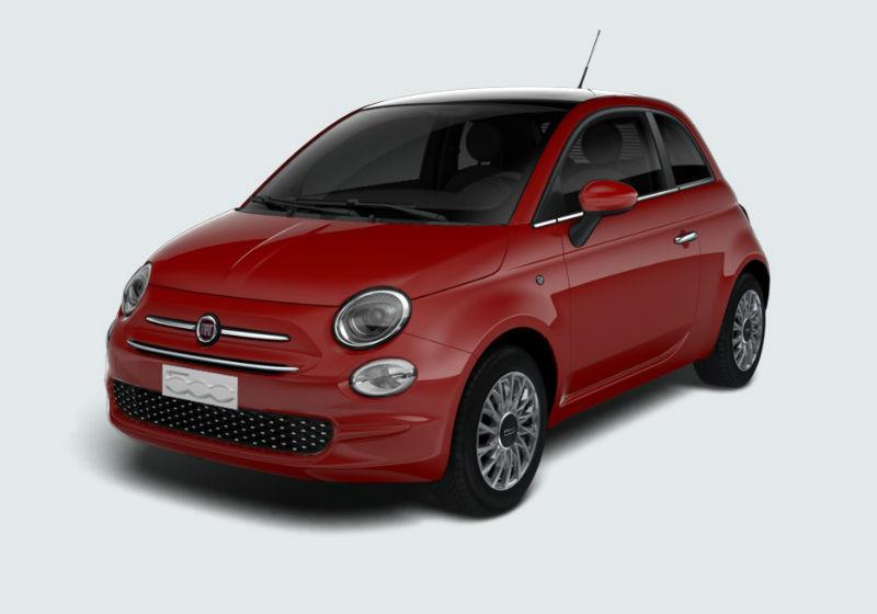FIAT 500 1.2 Lounge 69cv Rosso Passione Km 0 61SU5-a