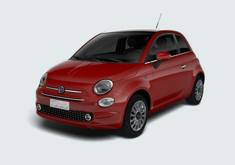 FIAT 500 1.2 Lounge 69cv Rosso Passione Km 0 G5ML6-a