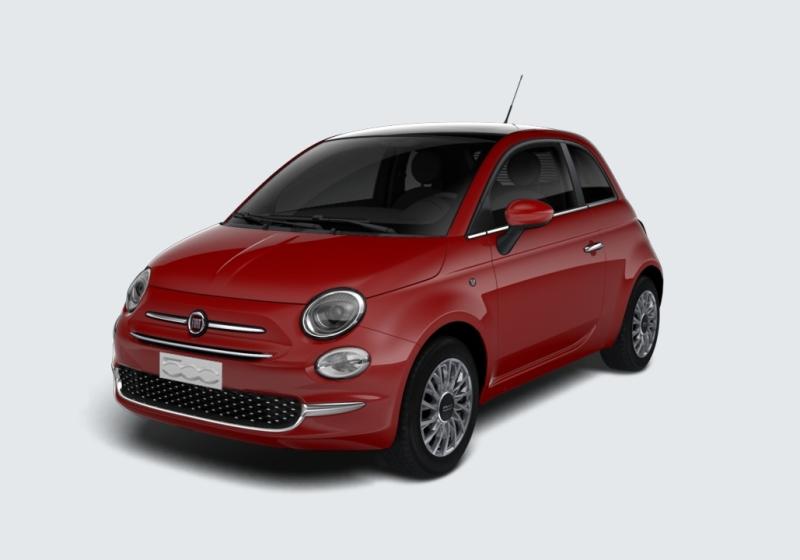 FIAT 500 1.2 Lounge 69cv Rosso Passione Km 0 NKMCT-a