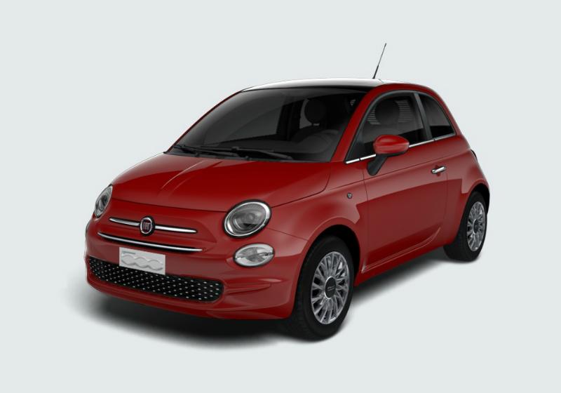 FIAT 500 1.2 Lounge 69cv Rosso Passione Km 0 0000V8R-a