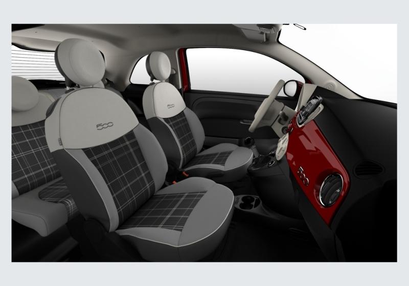 FIAT 500 1.2 Lounge 69cv Rosso Passione Km 0 0000V8R-f
