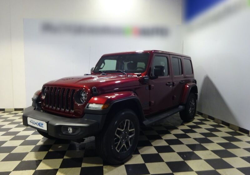 JEEP Wrangler Unlimited 2.0 PHEV ATX 4xe 80th Anniversary Snazzberry Pearl Km 0 T20CH2T-a_censored