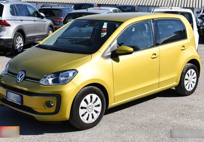 VOLKSWAGEN up! 1.0 5p. move up! BlueMotion Technology Lime Yellow Usato Garantito UE0BZEU-a_censored